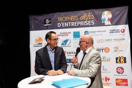 Frédéric QUARANTE, CLIMATER, lors de la 5ème Cérémonie des Défis d'Entreprises